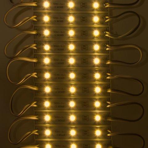 Світлодіодний модуль-стрічка SMD 5050, 20 шт. по 3 світлодіоди (теплий білий, самоклеючий, 1200 лм, 12 В, IP65) Прев'ю 1