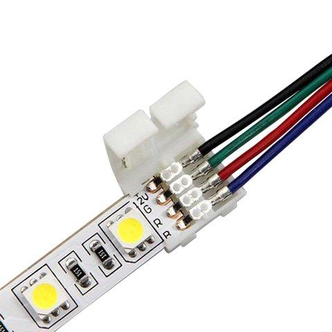 З'єднувальний кабель, 4-контактний, для світлодіодних стрічок RGB5050 WS2813, двосторонній Прев'ю 4