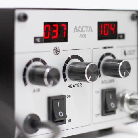 Термоповітряна паяльна станція Accta 401L Прев'ю 5